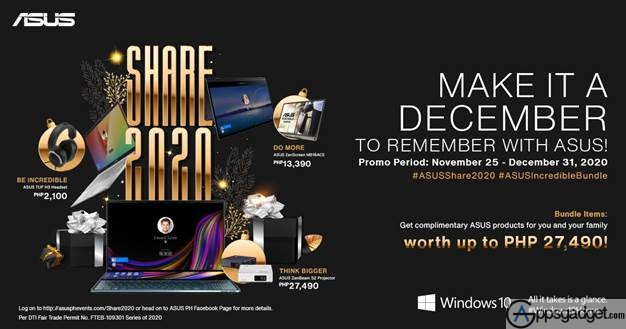 ASUS Share 2020 Series Giving Away PHP 27,490 worth of Bundled items