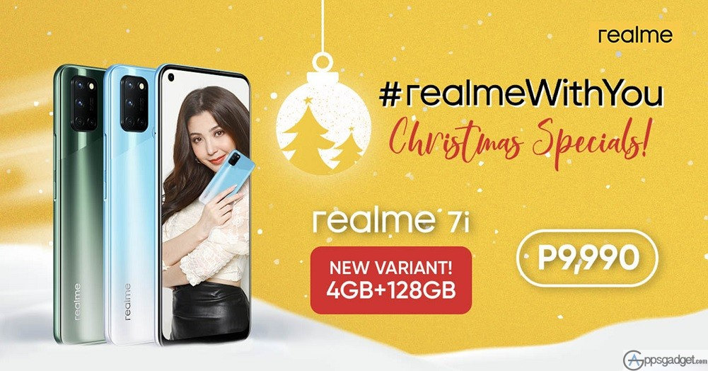 New realme 7i 4GB+128GB Variant for Only PHP 9,990 as Part of #realmeWithYou Christmas Special