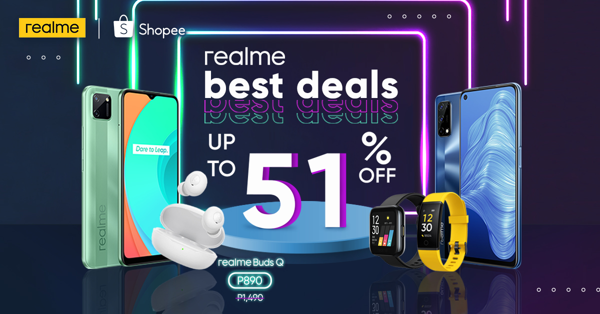 Santa Claus in bright yellow: realme offers up to 51% discount at Shopee's 12.12 Big Christmas Sale