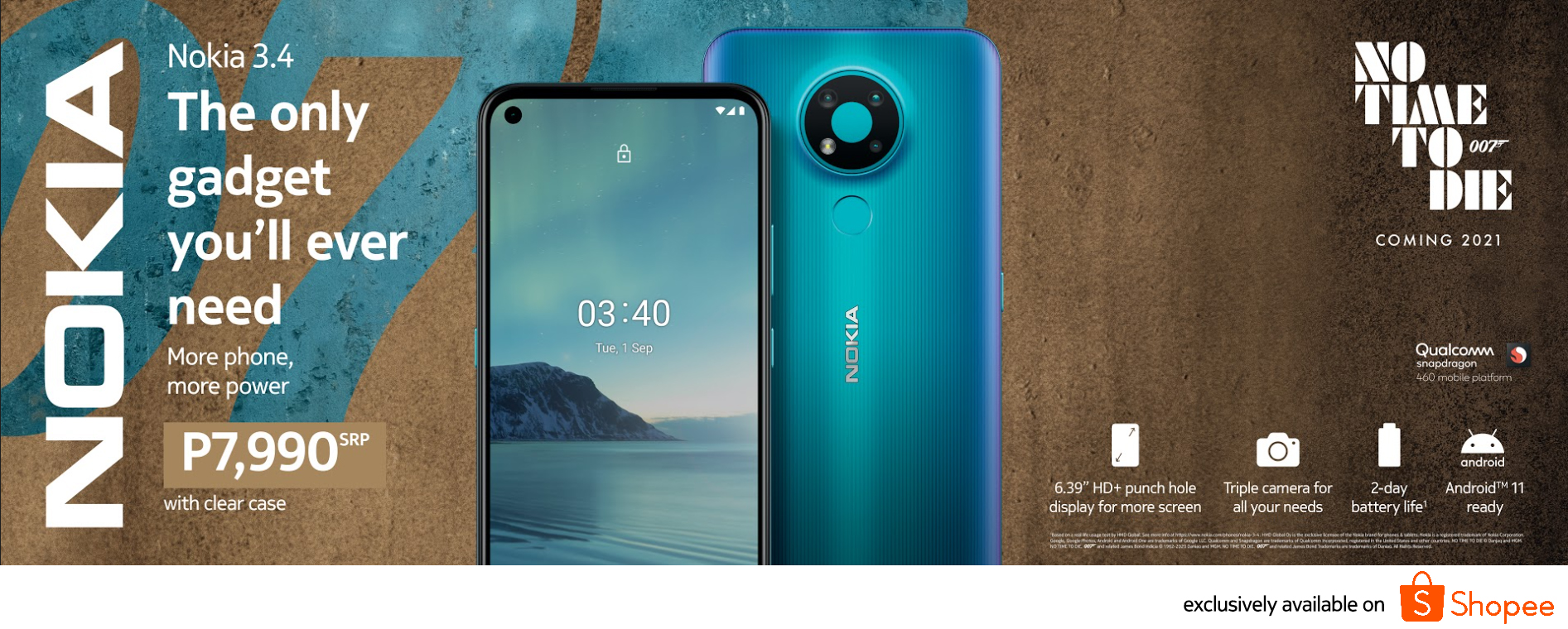 Nokia 3.4 Now Available on Shopee