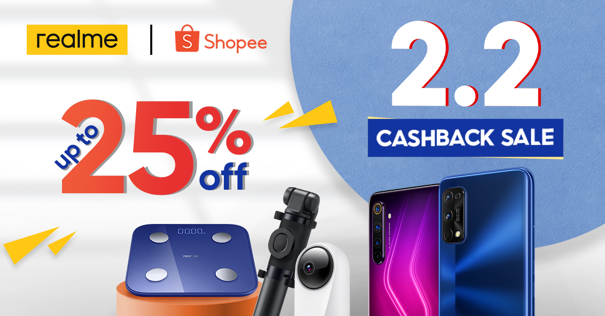 realme Philippines Shopee's 2.2 Cashback Sale with Huge Deals and Promos