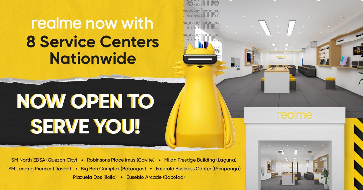 realme Opens 8 dedicated Service Centers Nationwide, Strengthens Customer Service in 2021