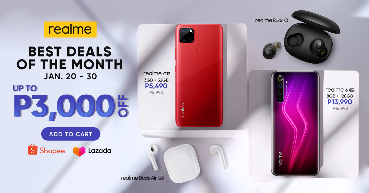 realme Kickstarts Best Deals of the Month up to 3,000 OFF
