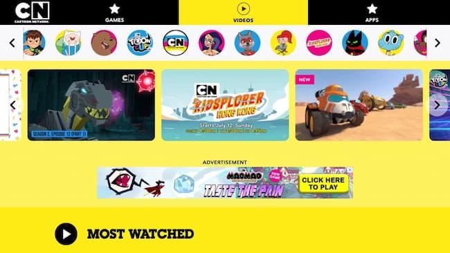 stream cartoons free