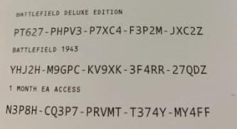 ea access codes