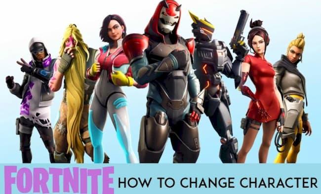 fortnite change character