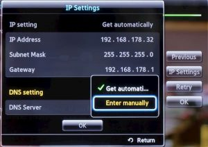 how to know ip address of samsung tv