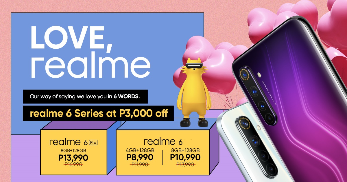realme 6 Series PHP 3,000 Price Drop, Starts at Php 8,990
