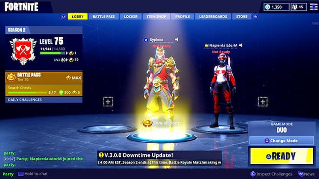how to change your character in fortnite