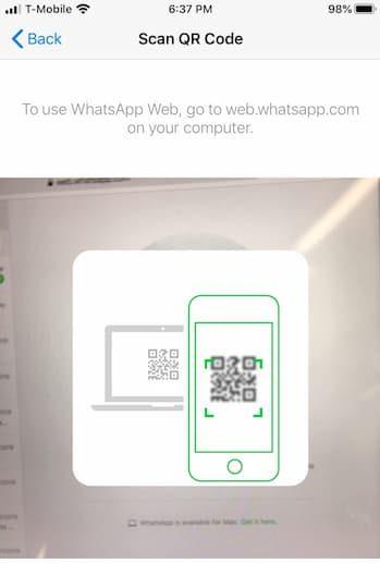 scan whatsapp qr code on ipad