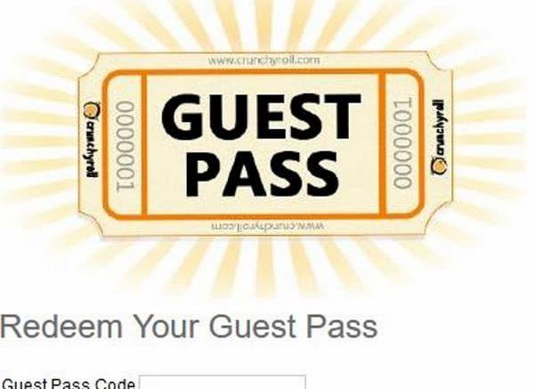 Crunchyroll Guest Pass free