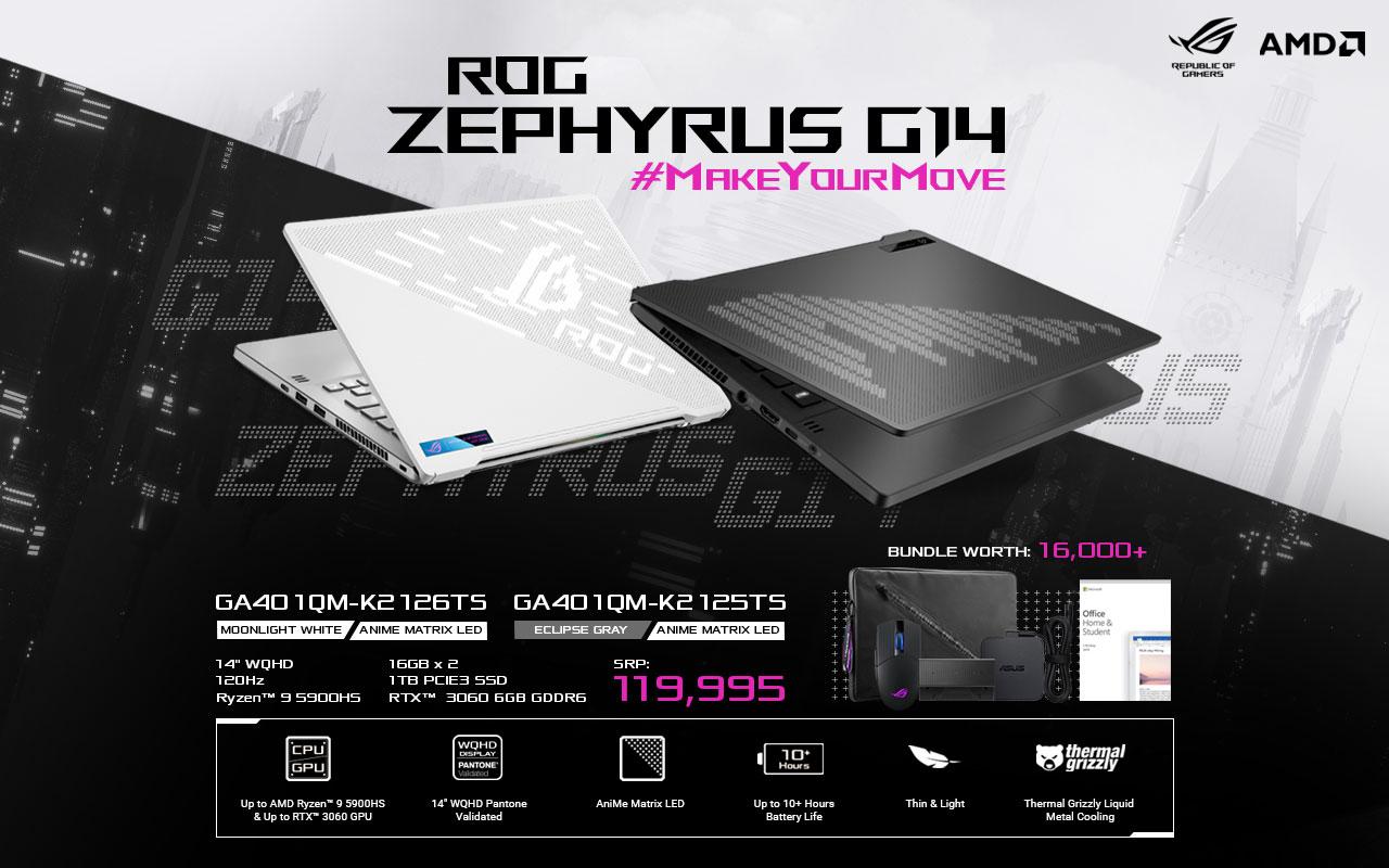 ASUS ROG Zephyrus G14 2021 Powered by AMD RYZEN™ 5000 LINE