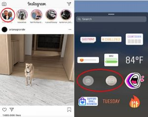 add photos as stickers in insta stories
