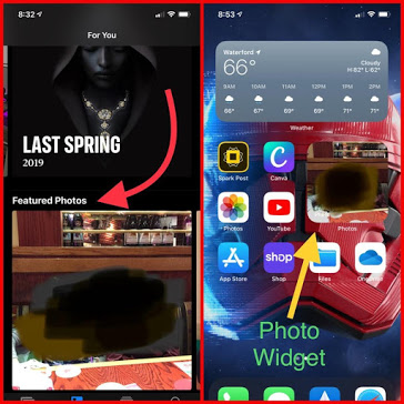 how to set photo as featured image in iOS 14 Photo widget