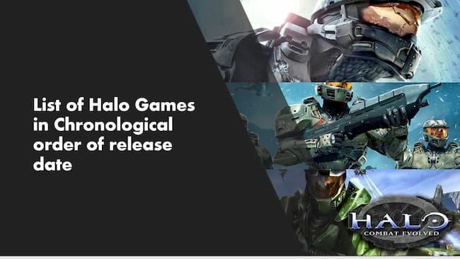 halo games in order