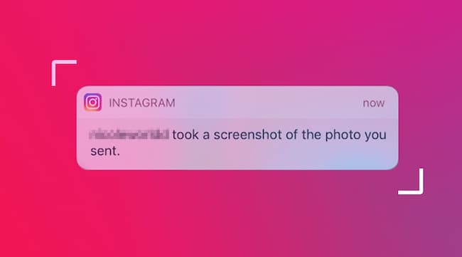 can people see if you screenshot instagram