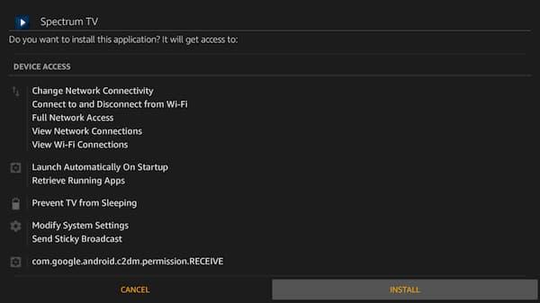 install spectrum app using downloader app