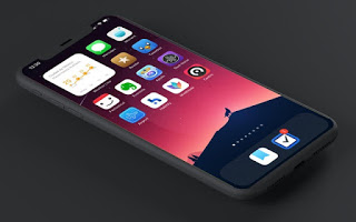 Simple iOS 14 Home screen design idea for iPhone