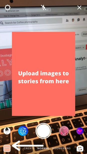 how to put more than one picture on instagram story