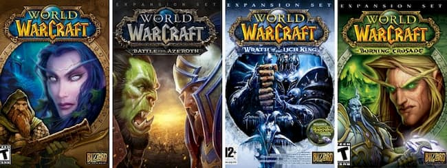 wow expansions in order
