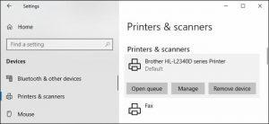 printer printing blank pages
