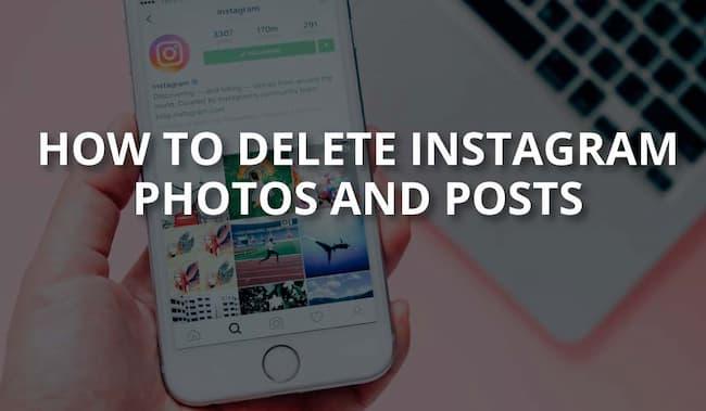 how to delete instagram photos
