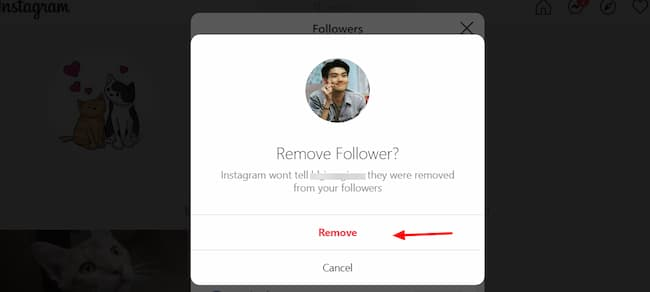 instagram removing followers