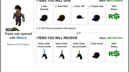 how to trade robux