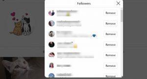 instagram remove followers