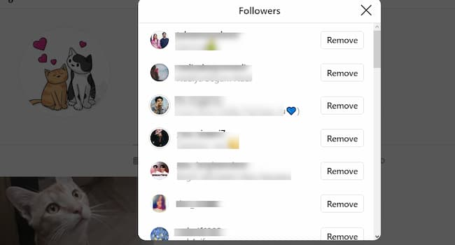 instagram remove followers