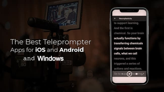 Best Teleprompter App for Windows, iPhone & Android