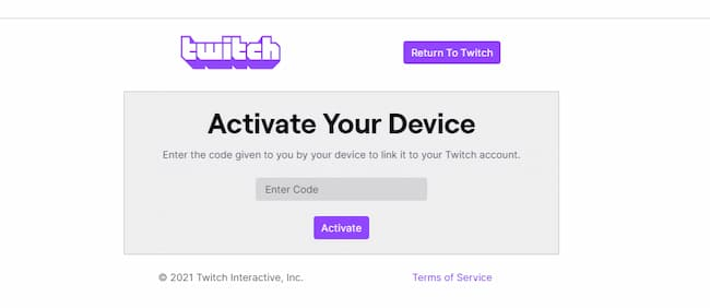 twitch activate